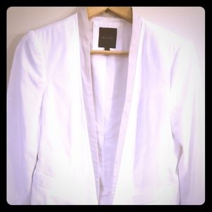 White and Tan Open Blazer from The Limited